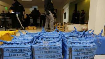 Sichergestellte Drogen in Paraguay