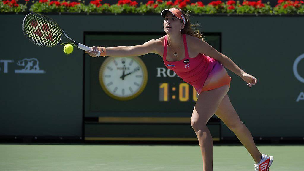 Vergeblich gestreckt: Belinda Bencic scheiterte in Indian Wells bereits in der 3. Runde