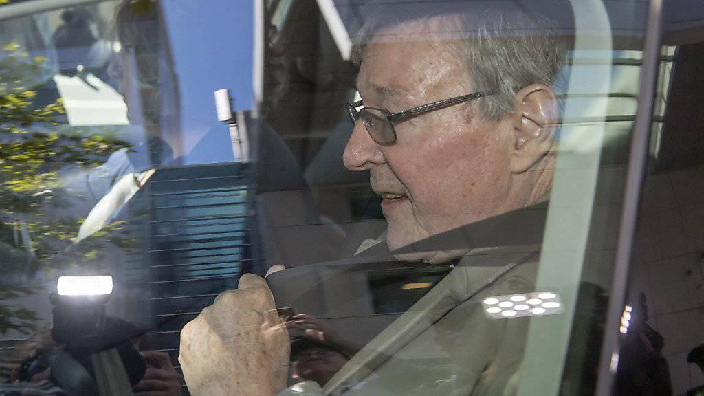 Der australische Kardinal George Pell ist in Melbourne für den sexuellen Missbrauch von Chorknaben für schuldig befunden worden. (Archivbild)