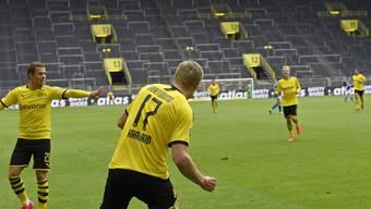 Erling Haaland erzielte das erste Tor nach Wiederaufnahme der Bundesliga.