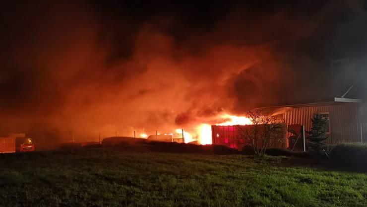 Der Brand ist auf dem Firmengelände der Weinkeller Riegger AG ausgebrochen.