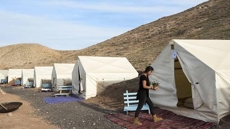 Airbnb-Zeltunterkunft im Westjordanland nahe der jüdischen Siedlung Alon. (Archivbild)