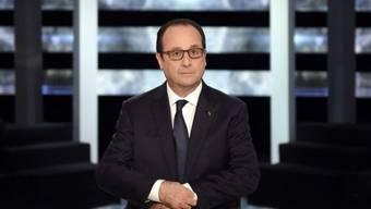 Präsident Hollande zu Beginn der Fragesendung auf TF1
