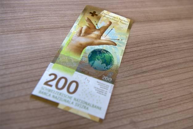Das Geheimnis ist gelüftet: So sieht die neue 200 Franken-Note aus.