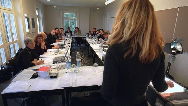 Teilnehmer eines Weiterbildungskurses des MAZ: Die Schule kommt definitiv nicht in der Aargau
