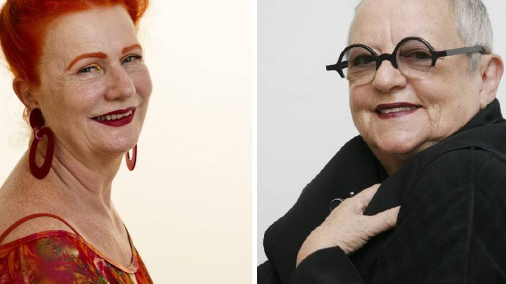 Die Sängerin La Lupa (l, 69) und die Designerin Christa de Carouge (r, 79) sind befreundet, obwohl sie ganz unterschiedliche Stile haben (Archiv).