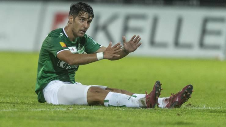 St.Gallens Spanier Victor Ruiz hatte den Matchball in den Füssen