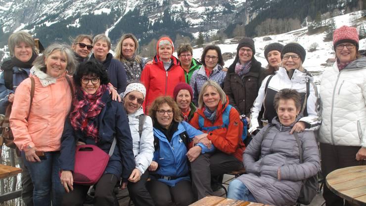 Die Happy Singers während des Schneewochenendes in Grindelwald.