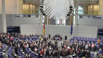 Der Bundestag in Berlin verabschiedet das Budget