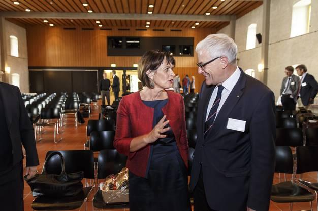 Doris Leuthard und Solothurns Stadtpräsident Kurt Fluri