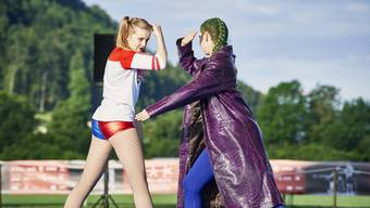 Die Choreografie von Pascale Müller und Bettina Wittwer vom TV Lengnau bei Biel am Wettkampf in der Gymnastik am Eidgenössischen Turnfest in Aarau.