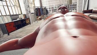 Würden Sie da Hand anlegen? Nackter Avatar des britischen Künstlers Ed Fornieles.HO