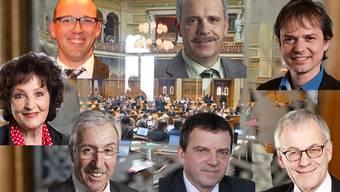 Mindestens einer von den sieben Bisherigen wird nach den Wahlen kein Nationalrat mehr sein. Welchen Ruf konnten sie sich bis dahin in Bern erarbeiten?