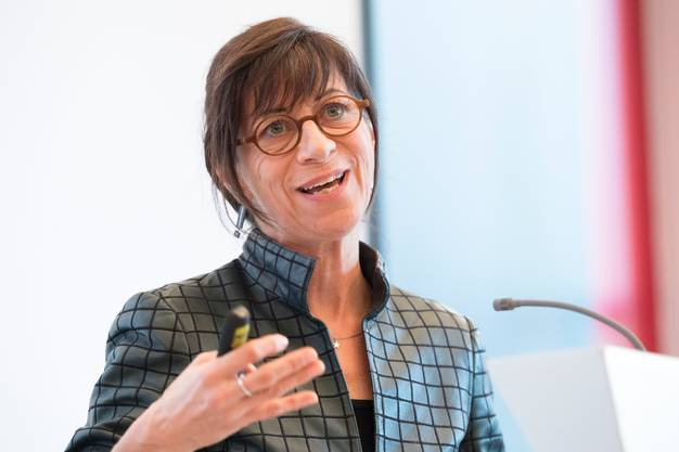 Heidi Hanselmann, Präsidentin der Gesundheitsdirektorenkonferenz befürchtet eine zweite Welle, wenn zu früh und zu schnell gelockert wird. (KEYSTONE/Anthony Anex)