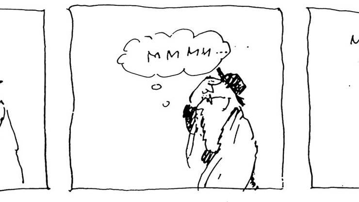 Die Cartoons nehmen ironisch, albern und tiefsinnig jüdisches Leben und den politischen Zeitgeist auf die Schippe.
