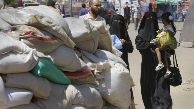 Mursi-Anhänger bei einem Protest-Lager in Kairo