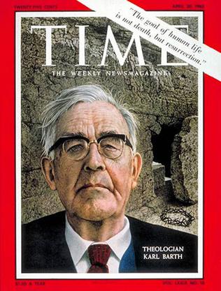 Karl Barth auf dem Cover des «Time Magazine» 1962.
