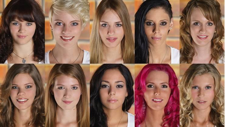 Alle zehn Kandidatinnen für die Miss Solothurn-Wahl 2013 auf einen Blick