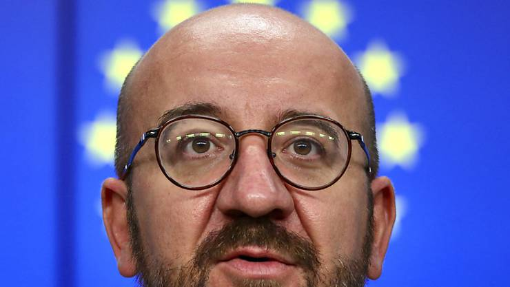dpatopbilder - Charles Michel, Präsident des Europäischen Rates, spricht. Foto: Olivier Matthys/AP Pool/AP/dpa