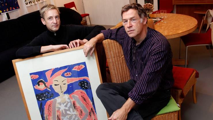 Markus Oeler (l.) und Bruno Durrer im Kulturloft Hanspeter Bärtschi