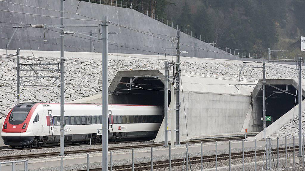 Das Gotthard-Basistunnel-Projekt ist mit dem Europäischen Bahn-Award 2018 ausgezeichnet worden. (Archiv)
