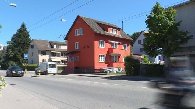 Oranges Haus in Biel