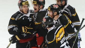 Tessiner im Hoch: Die Lugano-Spieler haben Grund zu jubeln