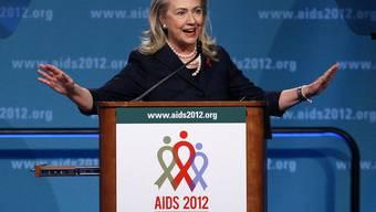 US-Aussenministerin Hillary Clinton spricht an der Welt-Aids-Konferenz