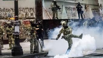 Umstrittener Einsatz: Unmarkierte Sicherheitskräfte in Portland.