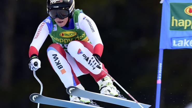 Lara Gut war in Lake Louise auch im zweiten Abfahrts-Training die schnellste Schweizerin