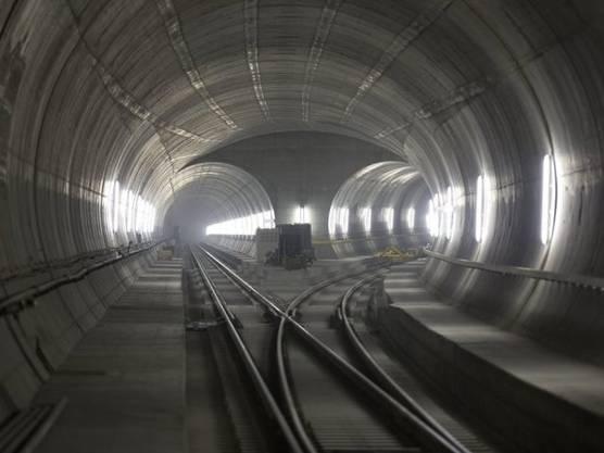 Blick in den Gotthard-Basistunnel (Archiv)