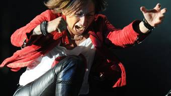 Actiongeladen: Sängerin Gianna Nannini während eines Auftritts (Archiv)