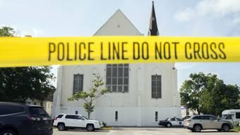 Abgeriegelter Tatort: Die Emanuel-Methodistenkirche in Charleston