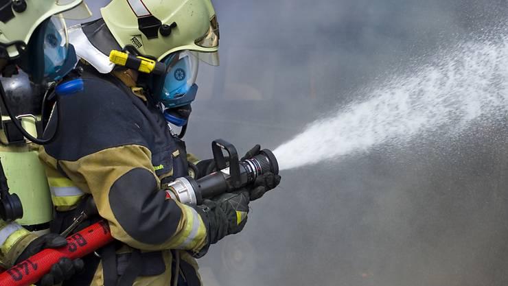 Die Feuerwehrleute brachten den Brand schnell unter Kontrolle. (Symbolbild)
