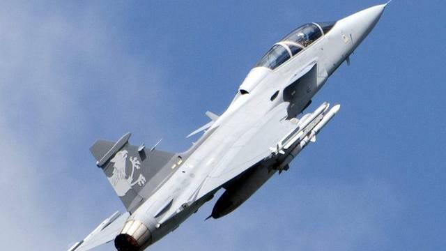 Ein Saab JAS 39 Gripen Demo an einer Flugshow (Archiv)