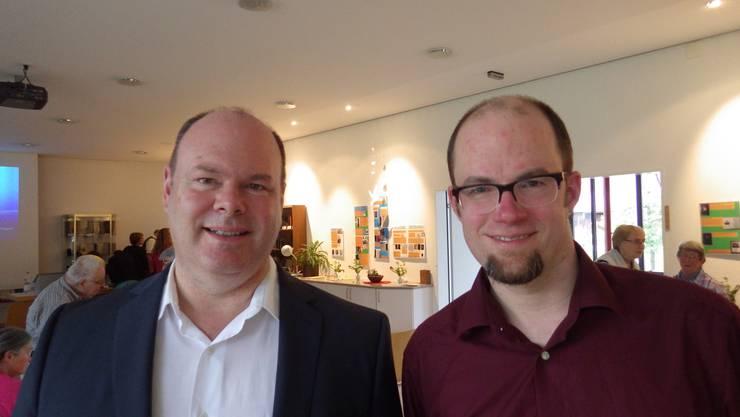 Die Jubilare Pfarrer Timothy Cooke (links) und Pfarrer Simon Pfeiffer