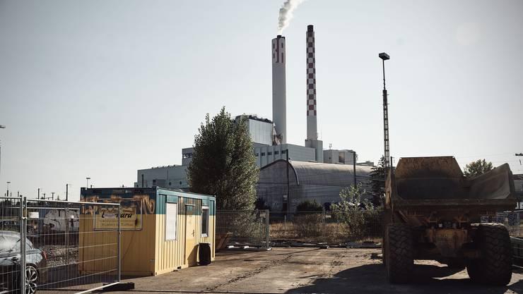 Die Kehrichtverbrennungsanlage der Industriellen Werke Basel.