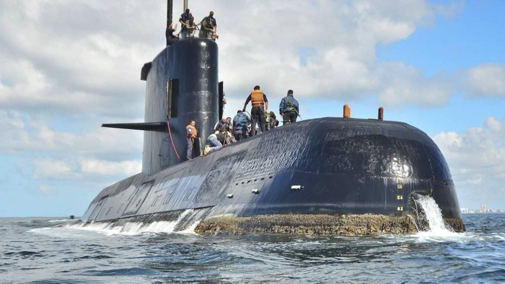 Samt 44-köpfiger Besatzung seit dem 15. November vermisst: das argentinische U-Boot ARA San Juan. (Archivbild)