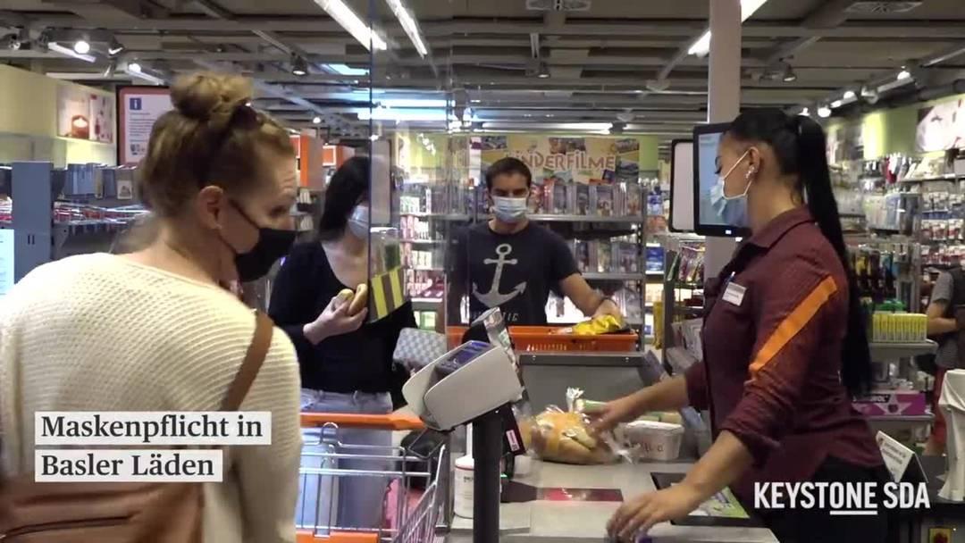 Maskenpflicht in Basler Läden: Wie reagieren Kunden darauf?