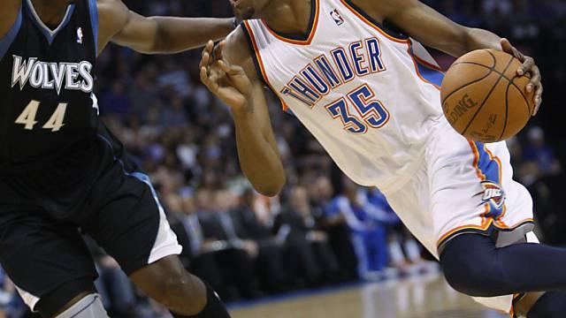 In der Erfolgsspur: Oklahoma City mit Kevin Durant (rechts).