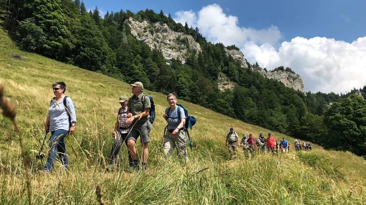 Königsetappe: Auf steile Aufstiege folgten flache Traversen. Eine wunderbare Wanderung.