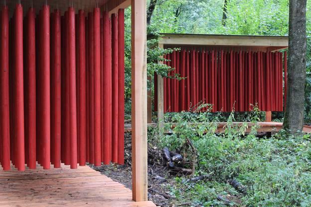 Klangvorhang in Rot.