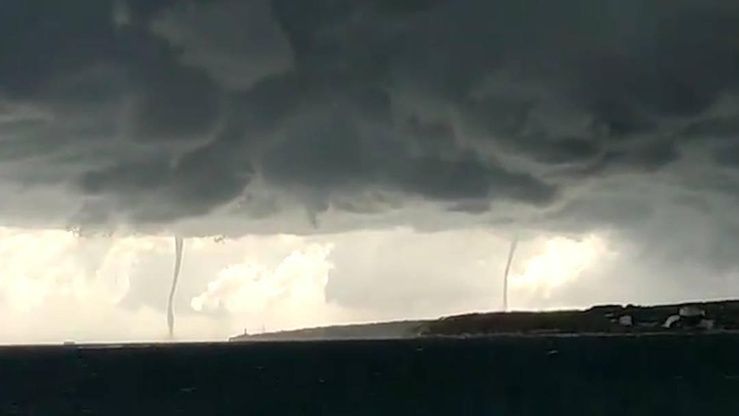 Heftige Unwetter auf Mallorca: Zwei Windhosen gesichtet