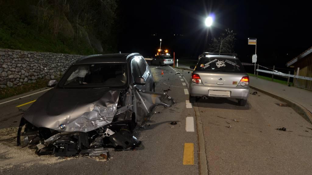 Schwerer Unfall mit zwei Verletzten in Teufen