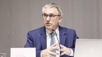 Alex Hürzeler bei der Budgetdebatte im Grossen Rat.