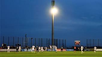 Keine Chance mehr, die Auflagen der Liga zu erfüllen: Der FC Le Mont spielt noch bis Saisonende im Stadion Sous-Ville in Baulmes und zieht sich dann aus dem Profi-Fussball zurück. Freshfocus/Urs Lindt