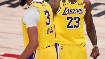 Anthony Davis (links) und LeBron James führten die Lakers zu einem klaren Sieg