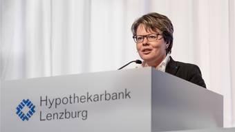 Marianne Wildi ist seit Januar 2010 Vorsitzender der Hypothekarbank Lenzburg. Sie arbeitet seit 1984 bei der «Hypi».