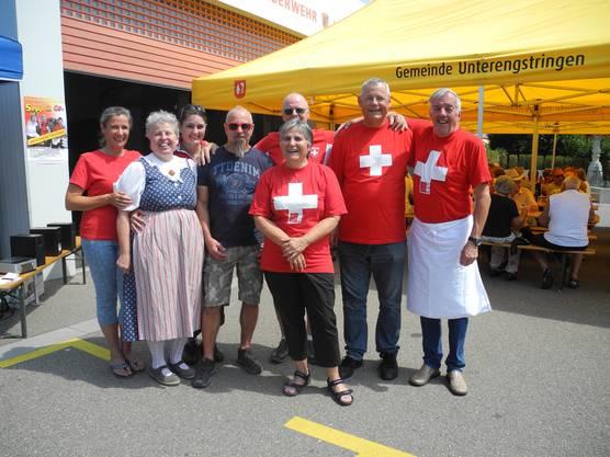 Die Mitglieder des organisierenden Bürgerlichen Gemeindevereins Unterengstringen.