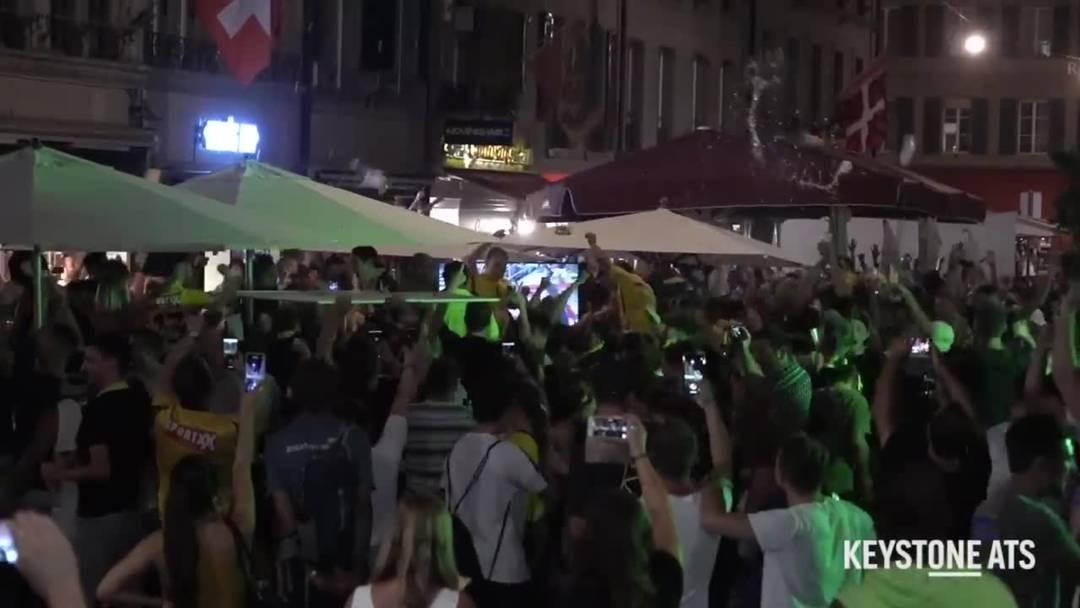 Berner Polizei bremst YB-Meisterfreude in der Innenstadt